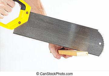 De madera sierra para metales mano cortar con la sierra - Sierra de mano para madera ...