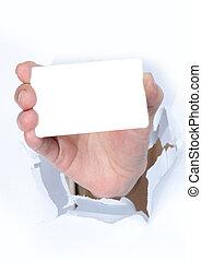 mano de la tarjeta