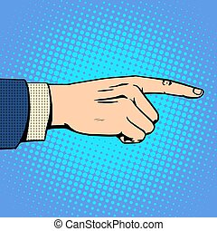 mano, dedo que señala, hombre