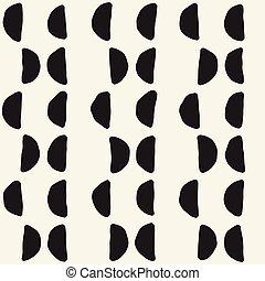 mano, disegnato, linee, seamless, grungy, pattern.,...
