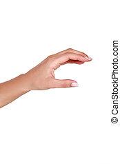 mano femenina