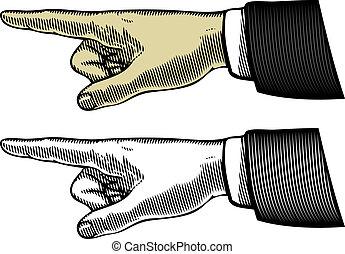 mano, indicare barretta