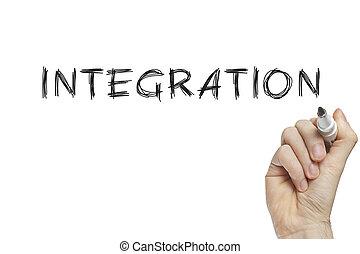 mano, integración, escritura
