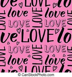mano, letras, amor