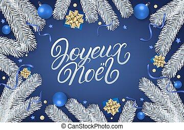 mano, letras, noel, escrito, joyeux