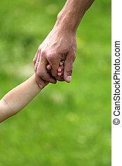mano, padre, niño