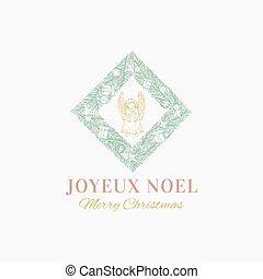 mano, saludos, tarjeta, resumen, ilustración, navidad, ...