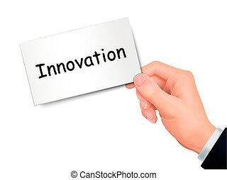 mano, scheda, innovazione