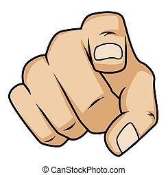mano señalar con el dedo