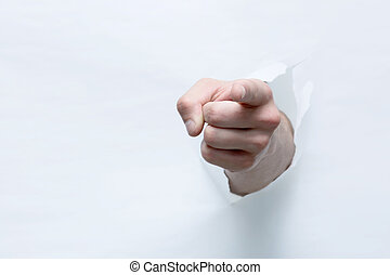 mano, se estropea, por, el, papel, con, un, gesto, aprobar