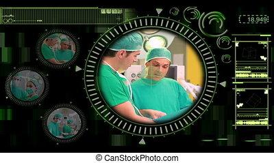mano, selezione, vario, chirurgico, vid