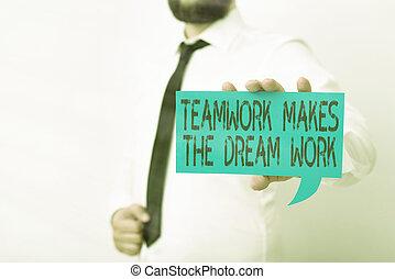mano, sogno, visione, esposizione, affari, visualizzazione, showcasing, foto, lavoro squadra, differente, concettuale, work., comune, content., insieme, lavoro, note, dare risalto, verso, colore scrittura, marche
