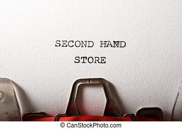 mano, testo, secondo, negozio