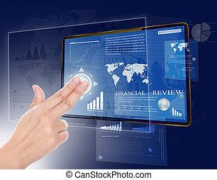 mano, wth, pantalla del tacto, tecnología