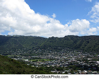 Manoa Valley on the Island of Oahu