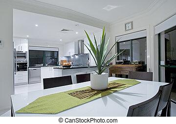 manoir, moderne, luxe, cuisine