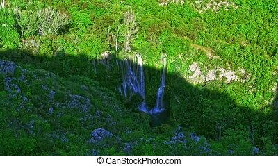Manojlovac waterfall Krka river - Manojlovac waterfall in...