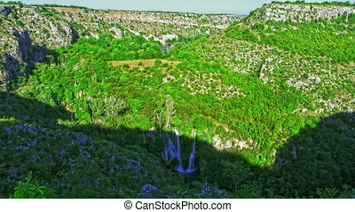 Manojlovac waterfall on Krka river