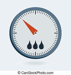 manomètre, balances, -, sphygmomanometer, appareils, pression, thermomètre, mètre, jauge