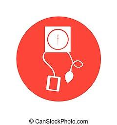 manometer, blut, freigestellt, ikone