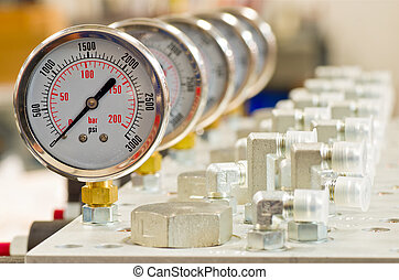 manometer, hydraulisch