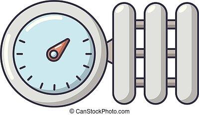 Manometer icon, cartoon style. - Manometer icon. Cartoon...