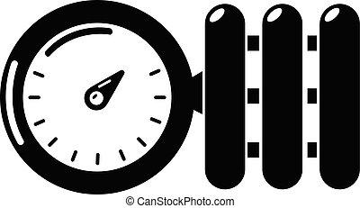 Manometer icon, simple style. - Manometer icon. Simple...