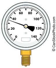 Manometer - Illustration of the manometer icon