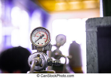 Manometer of an air compressor