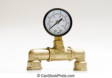 manometer on a white background, device