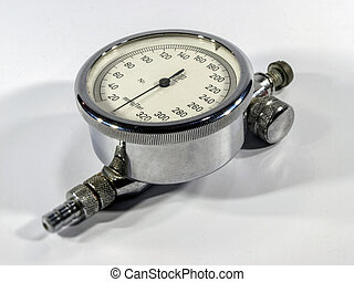 Manometer, on a white background