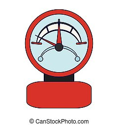manometer pressure device isolated vector illustration...