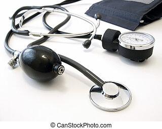 Manometer with stethoscope