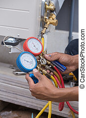manometers, measuring equipment for filling air conditioners