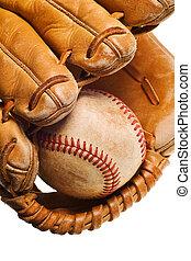 manopola, baseball, isolato