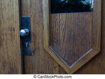 manopola, porta, spazio, arrugginito, copia, keyhole.