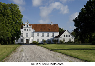 Manor House - The manor house at Vosnaesgaard near Aarhus,...