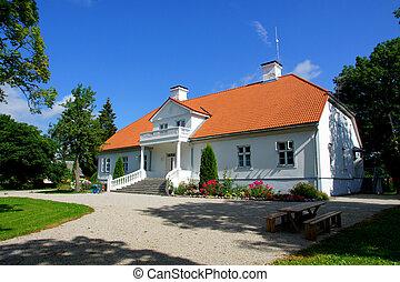 Manor in the west of Estonia. 18 century. Saare.
