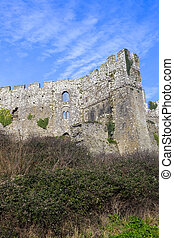 Manorbier Castle in Pembrokeshire South Wales