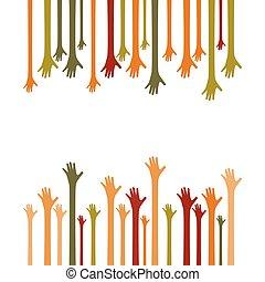 manos arriba