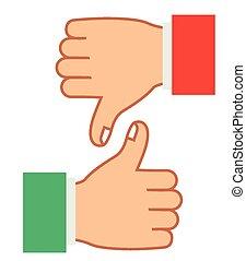 manos, gesto, diseño