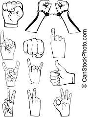manos, gestos