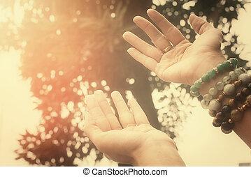 manos llegar