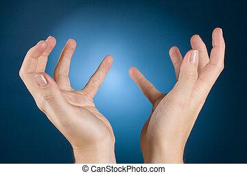 manos, misericordia, pregunte