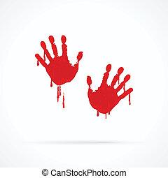 manos, sangriento