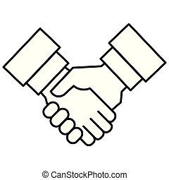 manos, trato hecho, icono