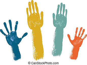 manos, votación