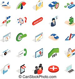 Manpower icons set, isometric style - Manpower icons set....