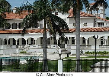 mansão, luxuoso