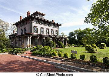 mansão, vitoriano, histórico